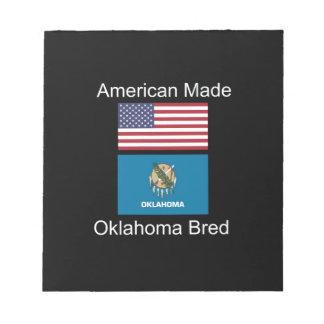 """""""アメリカ生まれ。オクラホマは""""旗のデザインを繁殖させました ノートパッド"""