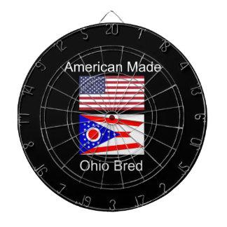 """""""アメリカ生まれ。オハイオ州は""""旗および愛国心を繁殖させました ダーツボード"""