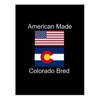 """""""アメリカ生まれ。コロラド州は""""旗のデザインを繁殖させました ポストカード"""