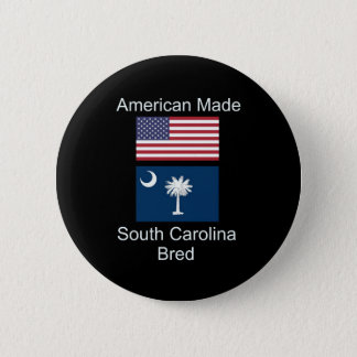 """""""アメリカ生まれ。サウスカロライナは""""旗のデザインを繁殖させました 缶バッジ"""