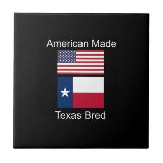 """""""アメリカ生まれ。テキサス州は""""旗および愛国心を繁殖させました タイル"""