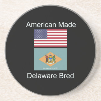 """""""アメリカ生まれ。デラウェア州は""""旗のデザインを繁殖させました コースター"""