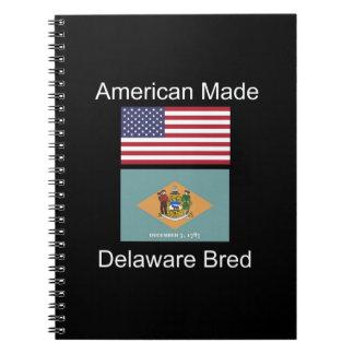 """""""アメリカ生まれ。デラウェア州は""""旗のデザインを繁殖させました ノートブック"""
