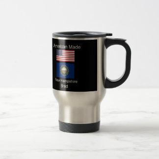 """""""アメリカ生まれ。ニューハンプシャーは""""旗のデザインを繁殖させました トラベルマグ"""