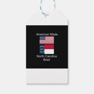 """""""アメリカ生まれ。ノースカロライナは""""旗のデザインを繁殖させました ギフトタグパック"""