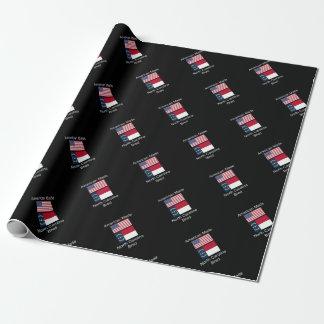 """""""アメリカ生まれ。ノースカロライナは""""旗のデザインを繁殖させました 包装紙"""