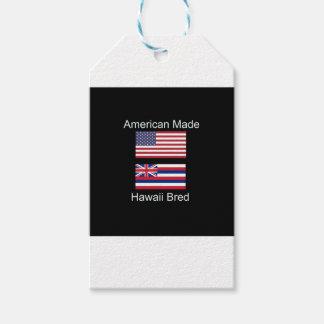 """""""アメリカ生まれ。ハワイは""""旗および愛国心を繁殖させました ギフトタグ"""