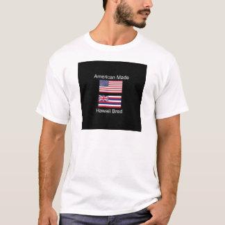 """""""アメリカ生まれ。ハワイは""""旗および愛国心を繁殖させました Tシャツ"""