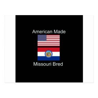 """""""アメリカ生まれ。ミズーリは""""旗のデザインを繁殖させました ポストカード"""