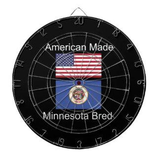 """""""アメリカ生まれ。ミネソタは""""旗のデザインを繁殖させました ダーツボード"""