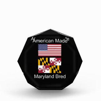 """""""アメリカ生まれ。メリーランドは""""旗のデザインを繁殖させました 表彰盾"""
