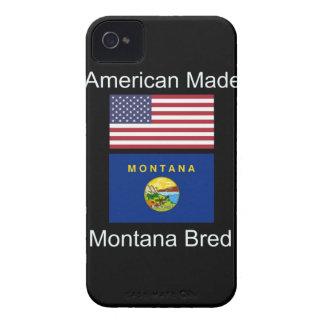 """""""アメリカ生まれ。モンタナは""""旗および愛国心を繁殖させました iPhone 4 Case-Mate ケース"""