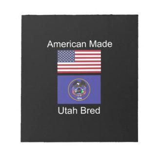 """""""アメリカ生まれ。ユタは""""旗および愛国心を繁殖させました ノートパッド"""