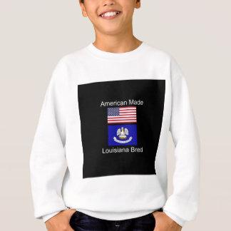 """""""アメリカ生まれ。ルイジアナは""""旗のデザインを繁殖させました スウェットシャツ"""