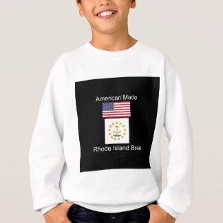 """""""アメリカ生まれ。ロードアイランドは""""旗のデザインを繁殖させました スウェットシャツ"""