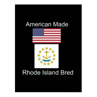 """""""アメリカ生まれ。ロードアイランドは""""旗のデザインを繁殖させました ポストカード"""