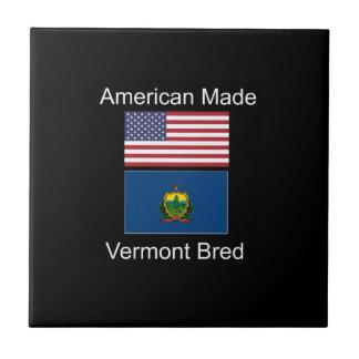 """""""アメリカ生まれ。ヴァーモントは""""旗および愛国心を繁殖させました タイル"""