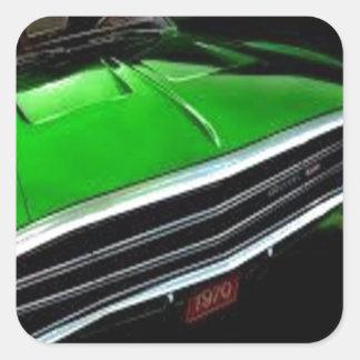 アメリカ筋肉車の充電器の緑 スクエアシール