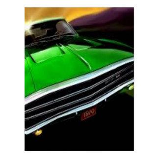 アメリカ筋肉車の充電器の緑 ポストカード