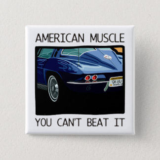 アメリカ筋肉車、クラシックおよびヴィンテージの青V8 5.1CM 正方形バッジ