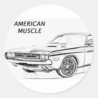 アメリカ筋肉車 ラウンドシール
