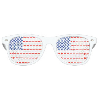 アメリカ筋肉-旗のサングラス レトロサングラス