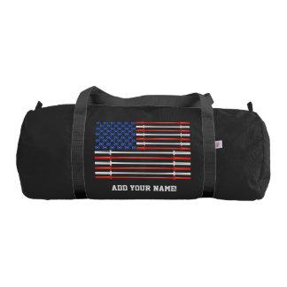 アメリカ筋肉-米国の旗の体育館のバッグ ジムバッグ