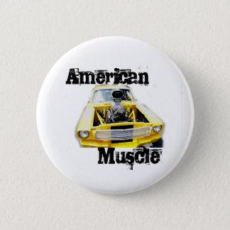 アメリカ筋肉Pin 5.7cm 丸型バッジ