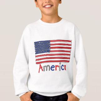 アメリカ米国の子供の旗 スウェットシャツ