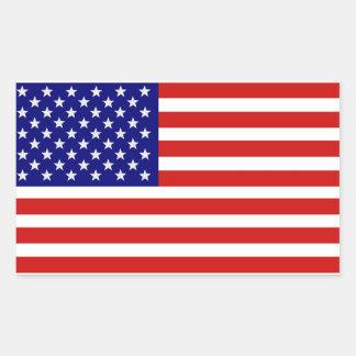 アメリカ米国の旗のステッカー 長方形シール