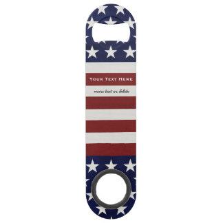 アメリカ米国の旗の愛国心が強い7月4日のカスタム スピードボトルオープナー