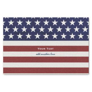 アメリカ米国の旗の愛国心が強い7月4日のカスタム 薄葉紙