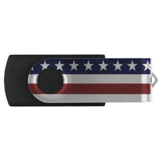 アメリカ米国の旗の愛国心が強い7月4日のカスタム USBフラッシュドライブ