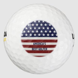 アメリカ米国の旗の愛国心が強い7月4日の習慣 ゴルフボール
