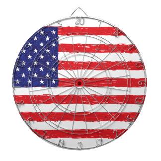 アメリカ米国の旗の*Hand Sketch*私達旗 ダーツボード