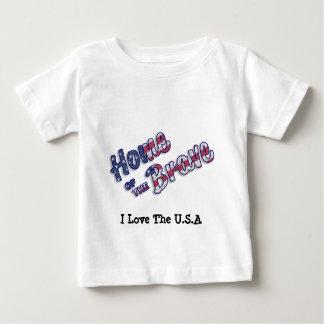 アメリカ色の勇敢のの家 ベビーTシャツ