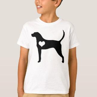 アメリカ英語のCoonhoundのハートの子供のTシャツ Tシャツ