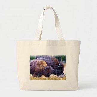 アメリカ野牛家族 ラージトートバッグ