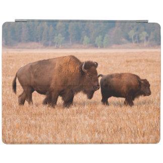 アメリカ野牛(バイソンのバイソン)の牛および子牛 iPadスマートカバー