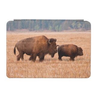 アメリカ野牛(バイソンのバイソン)の牛および子牛 iPad MINIカバー