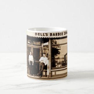 アメリカ鐘の理髪店のヴィンテージ コーヒーマグカップ