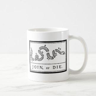 -アメリカ革命- Bフランクリン結合しますか、または死んで下さい コーヒーマグカップ
