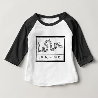 -アメリカ革命- Bフランクリン結合しますか、または死んで下さい ベビーTシャツ