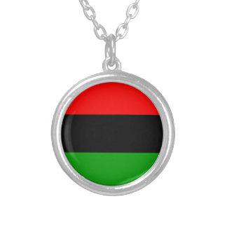 アメリカ黒人の旗のアメリカ黒人 シルバープレートネックレス