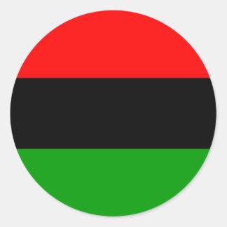 アメリカ黒人の旗のアメリカ黒人 ラウンドシール