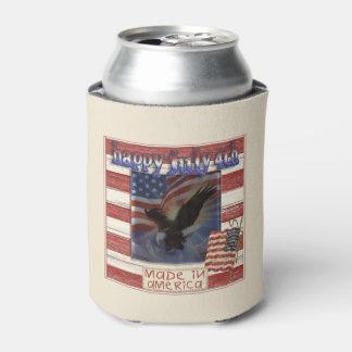 アメリカ7月4日の飲料のクーラーボックスで作られる 缶クーラー