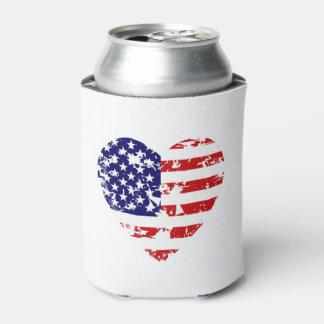 アメリカ7月4日の飲料のクーラーボックスのハート 缶クーラー