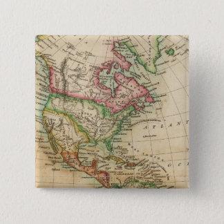 アメリカ8 5.1CM 正方形バッジ