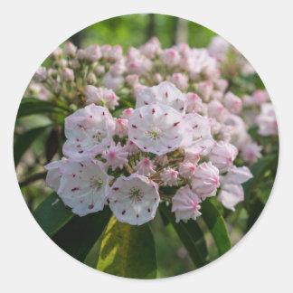 アメリカ・シャクナゲの野生の花のステッカー ラウンドシール