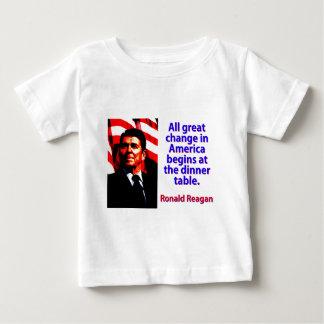 アメリカ-ロナルド・レーガンのすべての素晴らしい変更 ベビーTシャツ